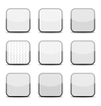 White textured icon templates vector image