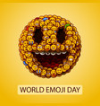 world emoji day smiley face made many small vector image vector image