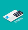 payment for e-book or e-magazine concept vector image