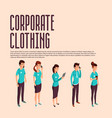 corporate clothes isometric vector image