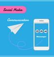 smart phone for social media for communication vector image