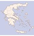 Greece contour map vector image