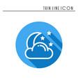 moon night line simple icon weather symbols vector image