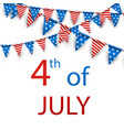 4th july card with flags vector image vector image