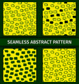 abstract green and yellow seamless patterns set vector image vector image