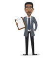 african american business man cartoon character vector image vector image