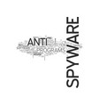 anti spyware adware text word cloud concept vector image vector image