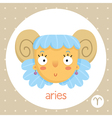 Aries zodiac sign girl with horns vector image vector image