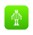 artificial intelligence robot icon digital green vector image vector image