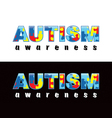 Autism Word vector image vector image