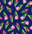 background with tulips Vintage seamless pattern vector image vector image
