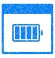 Battery Calendar Page Grainy Texture Icon vector image vector image