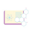 biology science study book atom molecule vector image