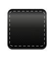 Black line button vector image vector image