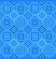 blue geometric diagonal square tile mosaic vector image vector image
