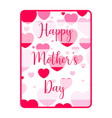 card with text and hearts mother day vector image