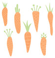 carrots set vector image