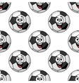 Cartoon football balls seamless pattern vector image vector image