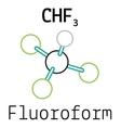 CHF3 fluoroform molecule vector image vector image