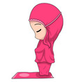 chibi muslim female cartoon characters the vector image vector image
