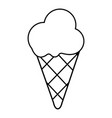 cold ice cream icon outline line style vector image vector image