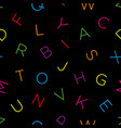 colorful alphabet seamless wallpaper pattern vector image vector image