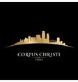 Corpus Christi Texas city skyline silhouette vector image vector image
