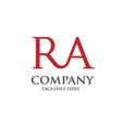 creative ra letter logo vector image vector image