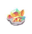 crystal gem stone or gemstone jewel quartz diamond vector image vector image
