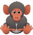 cute baby monkey vector image vector image