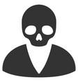 death man flat icon vector image