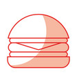 delicious burger isolated icon vector image vector image