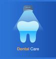 dental care concept dental laser whitening vector image