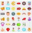 different advertising icons set cartoon style vector image vector image