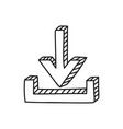 download icon in doodle style vector image vector image