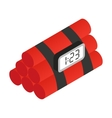 Dynamite isometric 3d icon vector image