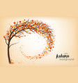 enjoy autumn background with tree and colorful vector image