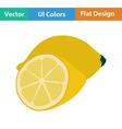 Flat design icon of Lemon vector image