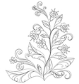 flowers contours vector image vector image