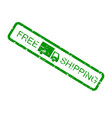 free shipping green rubber stamp isolated on white vector image vector image
