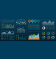 futuristic technology interface for presentation vector image vector image