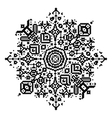 Geometric round element snowflake or mandala vector image vector image