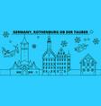 germany rothenburg ob der tauber winter holidays vector image vector image