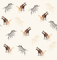 giraffe on light background seamless pattern vector image