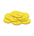 gold coins symbol flat isometric icon or logo 3d vector image vector image