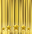 golden curtain vector image vector image