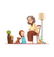 grandmother with child retro cartoon vector image vector image