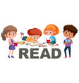 group of children read concept vector image