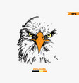 hand-drawing eagle eyes vector image