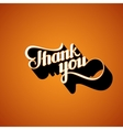 handwritten Thank You retro label vector image vector image